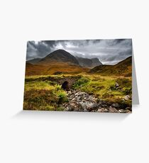 Glencoe. The Old Road. Highlands of Scotland. Greeting Card