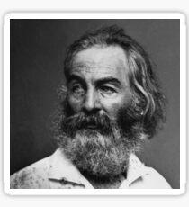 Walt Whitman - black and white Sticker