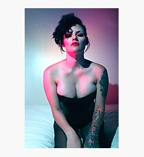 Yvonne Black Corset Photographic Print