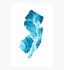 The Shape of New Jersey- The Jersey Shore Photographic Print