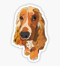 Spaniel #3 | Abstract Print Sticker