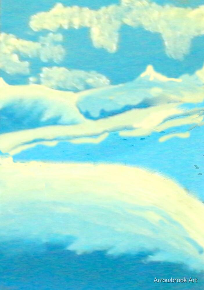Blue Landscape - Rhian B by John Brotheridge
