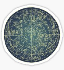 Antique Constellation of Northern Stars 19th Century Astronomy Sticker