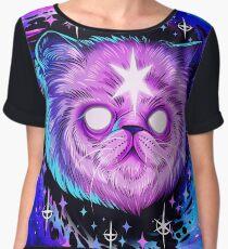 Black Hole Cat Women's Chiffon Top