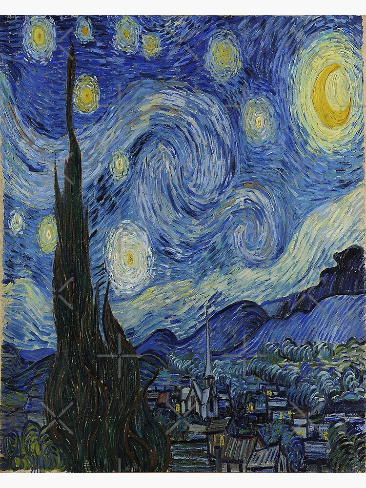 The Starry Night By Vincent Van Gogh Greeting Card