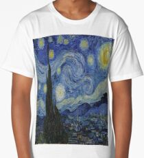 The Starry Night by  Vincent van Gogh Long T-Shirt