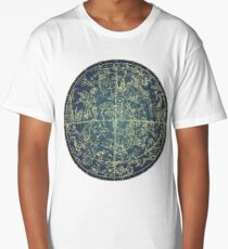 Antique Constellation of Northern Stars 19th Century Astronomy Long T-Shirt