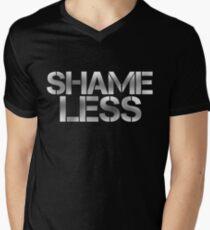SHAME LESS (white) Men's V-Neck T-Shirt