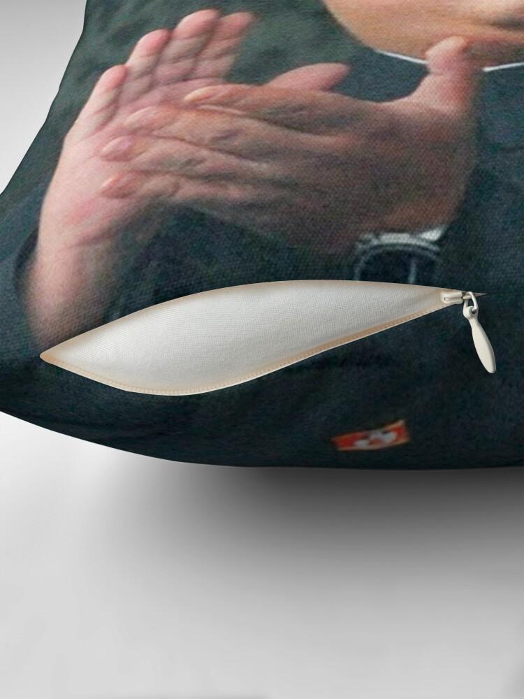 Alternate view of Nicolas Cage/Kim Jong-Un Throw Pillow