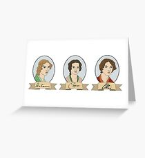 Acton, Currer and Ellis Bell Greeting Card