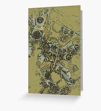 Zweige schneiden - olivgrün Grußkarte
