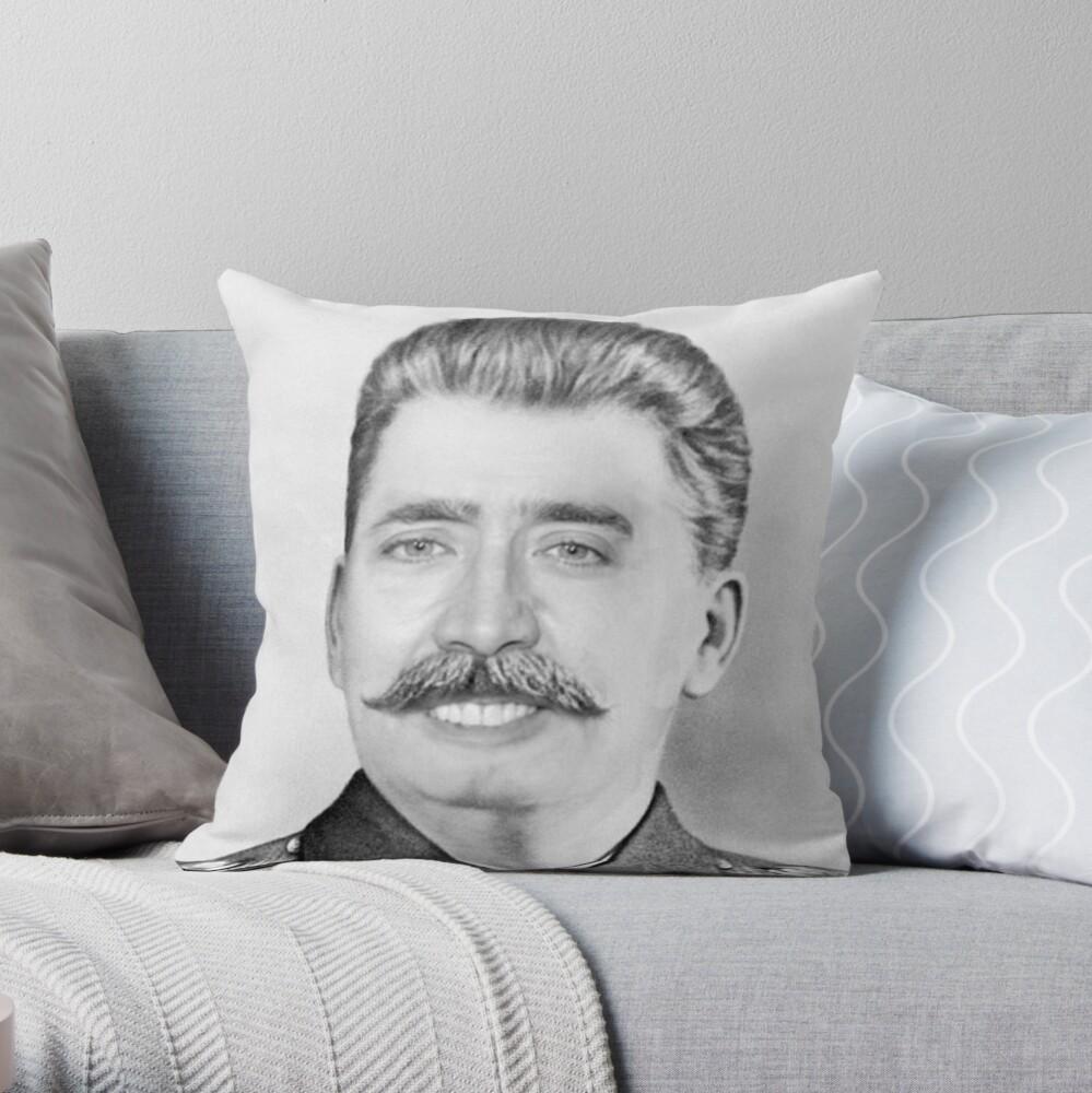 Nicolas Cage/Stalin Throw Pillow