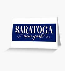 Saratoga, New York Geofilter Greeting Card