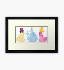 Three princesses Framed Print