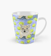 Miss Caroline the Cairn Terrier is Obsessed About Fetching Tennis Balls Tall Mug
