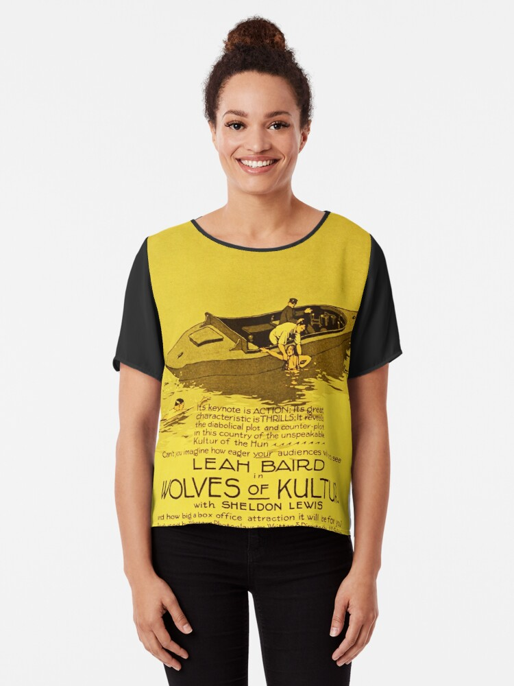 'Wolves of Kultur (1918) Silent movie' Chiffon Top by mindthecherry