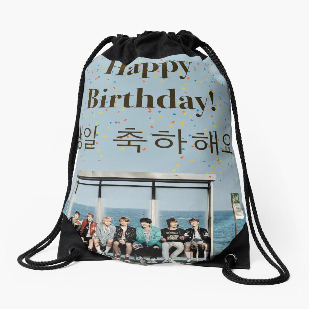 BTS-Geburtstags-Karte Turnbeutel