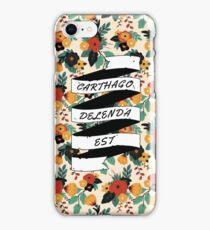 Carthago Delenda Est - Floral iPhone Case/Skin