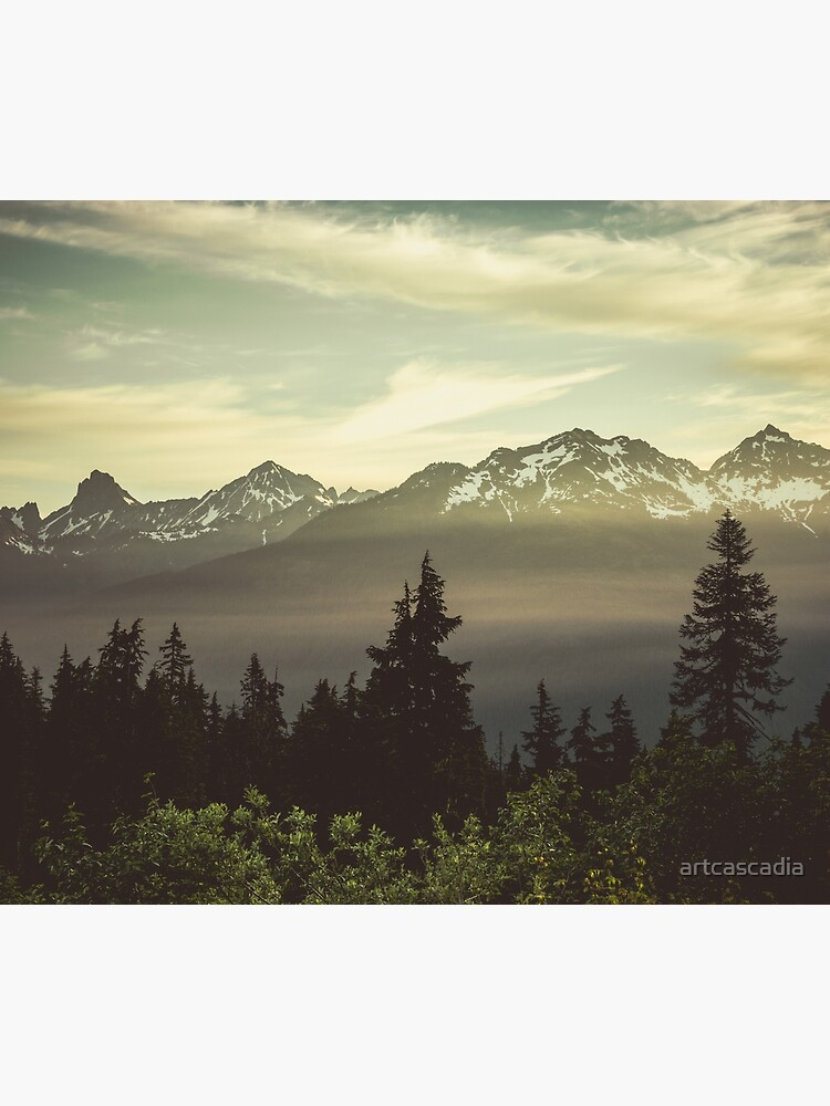 Pacific Northwest Sunrise - Northern Cascade Mountain Forest by artcascadia