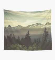 Pacific Northwest Sunrise - Northern Cascade Mountain Forest Wall Tapestry