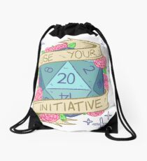 D20 - Use Your Initiative Drawstring Bag