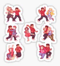 michael dance party Sticker