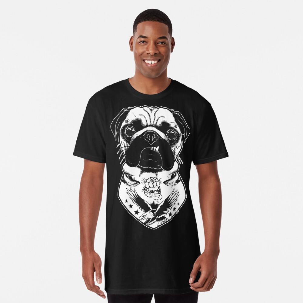 Camiseta largaPerro tatuado - Pug Delante