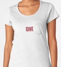 Camiseta premium para mujer NEVER GIVE UP (Black Edition) 8ebdd1271bed3