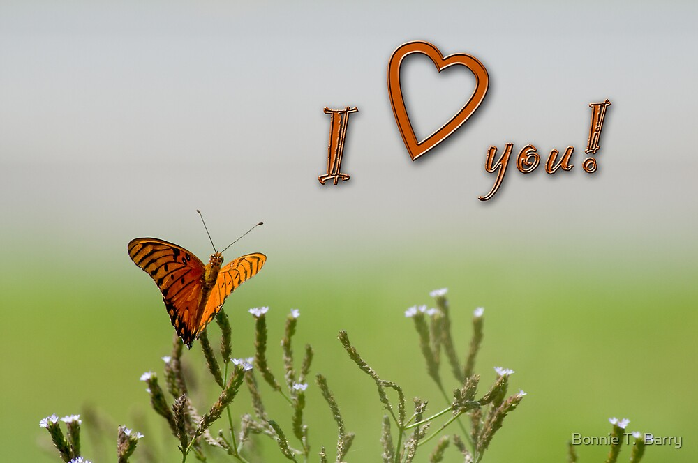 I love you! by Bonnie T.  Barry