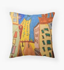 Collection Baroud - Wandernde Häuser Throw Pillow