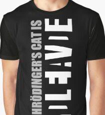 Camiseta gráfica El gato de Schrödinger es ADLEIAVDE