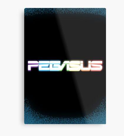 Peg-ASUS Rainbow Metal Print