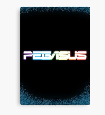 Peg-ASUS Rainbow Canvas Print