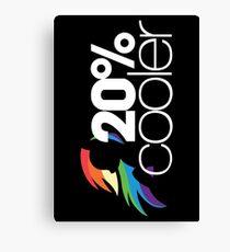 20% Cooler! (ALL options) - BLACK Canvas Print