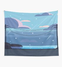 Sea Side Road Wall Tapestry