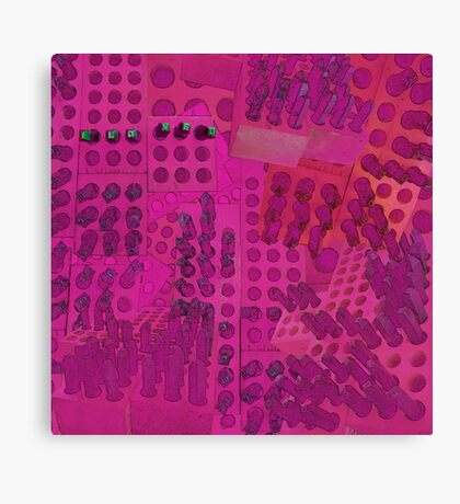 I Love You Letter Punches Abstract Pink Canvas Print