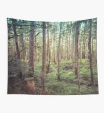 Forest Trees - Tree Woods Green Nature Outdoor Adventure Wall Tapestry