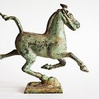 Bronze Galloping Horse Treading on a Flying Swallow by Skye Hohmann