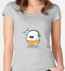 Sushi Tunes Women's Fitted Scoop T-Shirt
