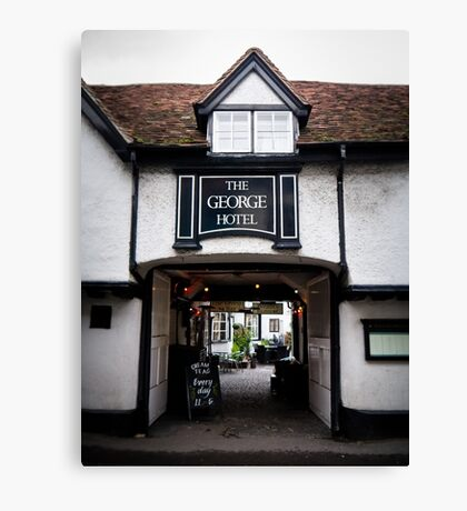 The George Hotel, Wallingford, Oxfordshire Canvas Print