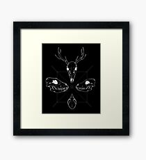 Marauding Skulls - inverted Framed Print