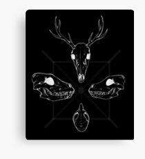 Marauding Skulls - inverted Canvas Print