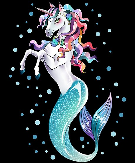 """Unicorn Mermaid Mermicorn Cute T-Shirt Gifts"" Posters by ..."