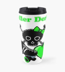 Roller Derby Heart (Green) Travel Mug