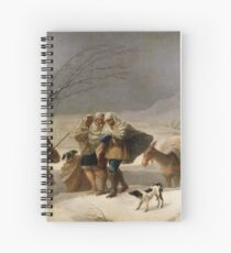 The Snowstorm (Winter) Francisco 1786 - 1787  Goya Spiral Notebook