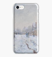 Snow Scene at Argenteuil 1875 Claude Monet iPhone Case/Skin