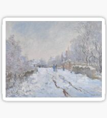 Snow Scene at Argenteuil 1875 Claude Monet Sticker