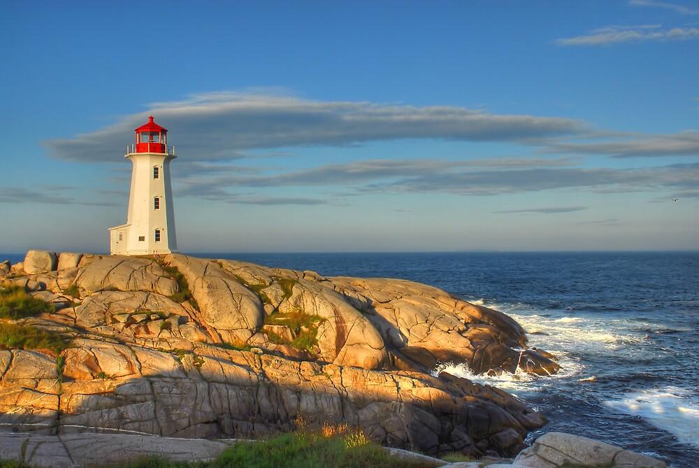 Peggy's Cove Lighthouse - Nova Scotia, Canada by Howard Simpson