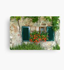 Tuscan Window Canvas Print