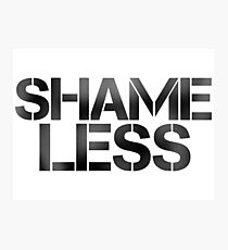 SHAME LESS (black, stickers and cards) Photographic Print